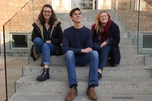 3 British students Photo by Charlotte Dupon